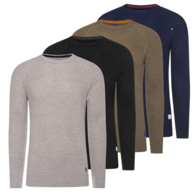Jack & Jones Panel Knit Herren Strick-Pullover / Longsleeves für je 19,95€