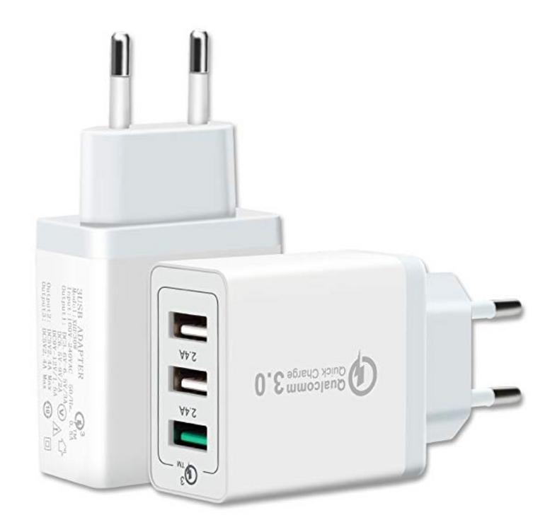 Unionup 3 Port Quick Charge USB Ladegerät für 6,71€ inkl. Prime-Versand