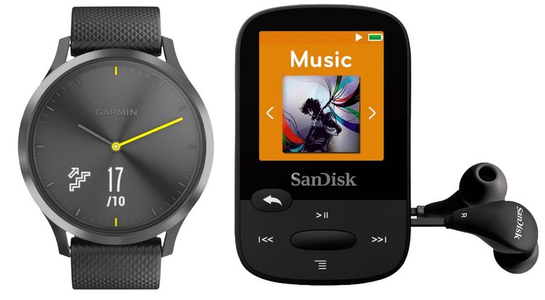 Garmin vívomove HR Sport (L) + SanDisk MP3 Player (8GB) für 180,99€