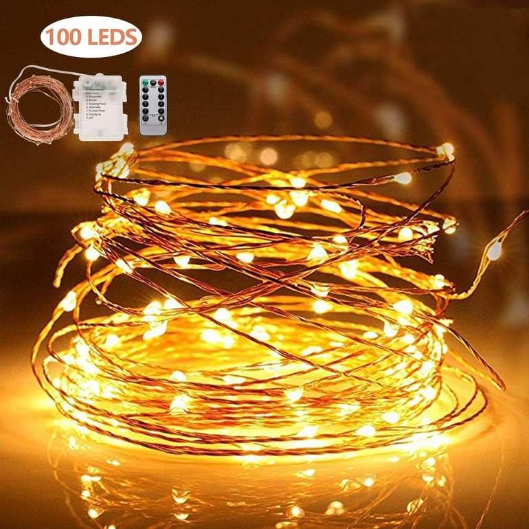 Hengda Kupferdraht Lichterketten reduziert, z.B. 10m für 9,79€ inkl. Prime Versand