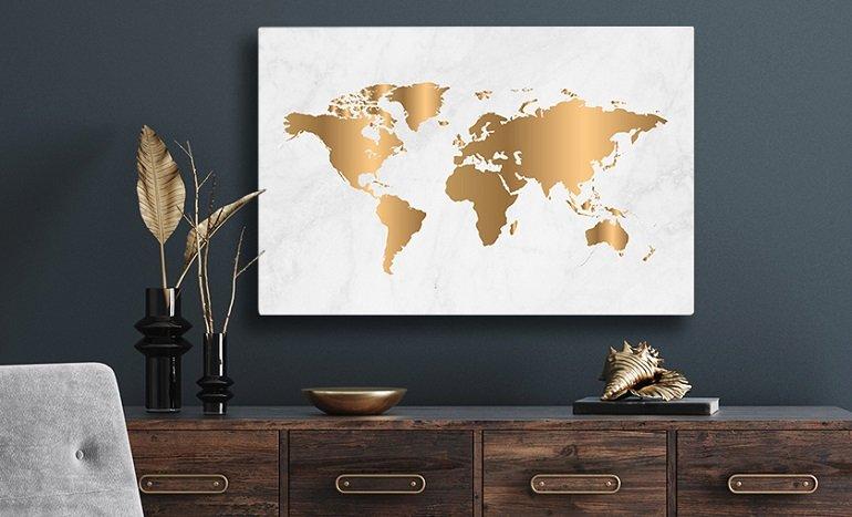 Verschiedene Weltkarten mit je 50% Rabatt: z.B Leinwand 100x50 cm für 30,42€inkl. Versand (statt 40€)