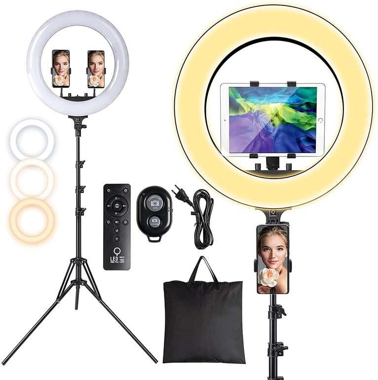"""Unimi 18"""" LED Ringlicht (3 Farben, 10 Helligkeitsstufen) für 48,94€ inkl. Versand (statt 80€)"""