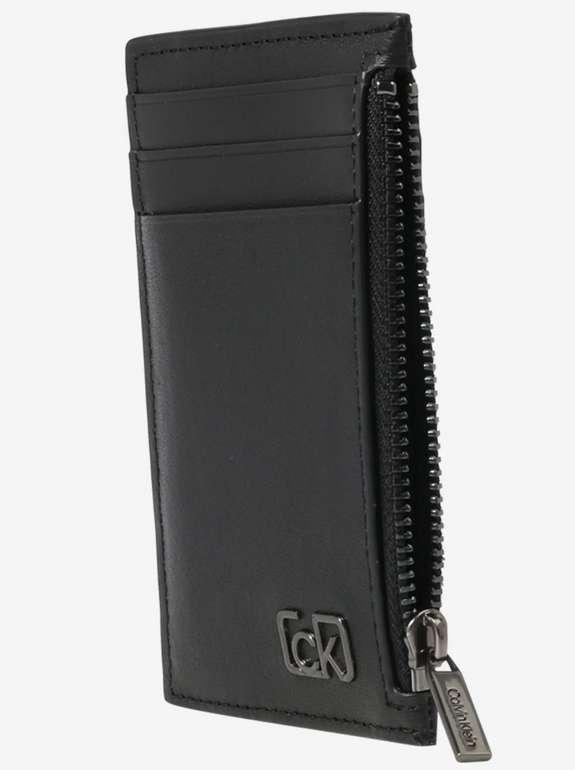 Calvin Klein Portemonnaie aus Glattleder in schwarz für 24,43€ inkl. Versand (statt 45€)