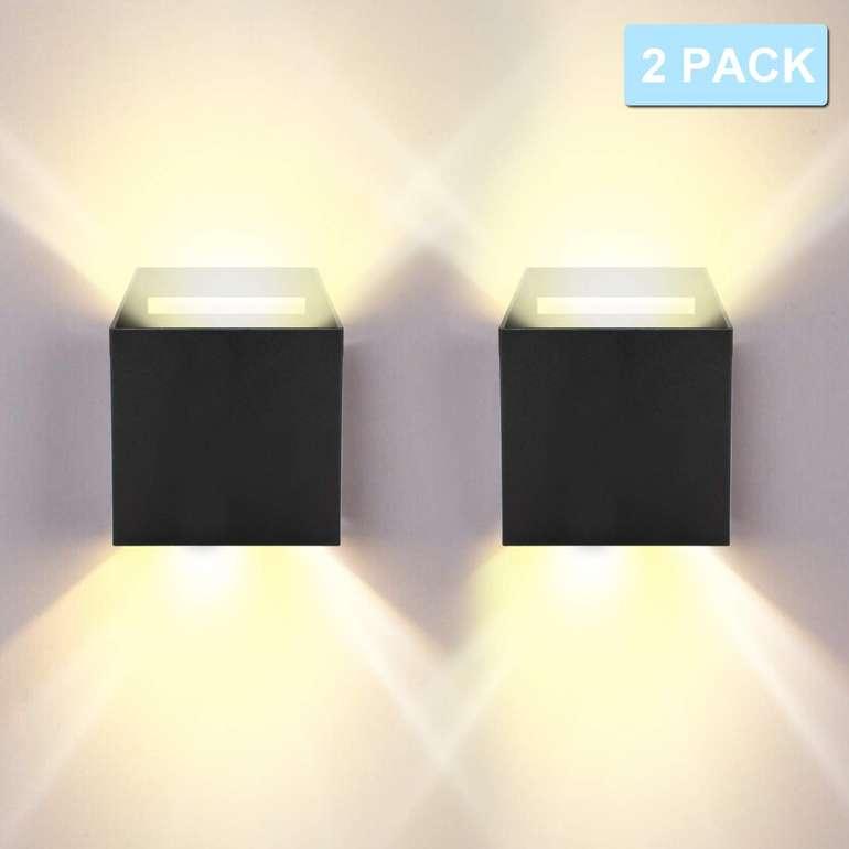 """Hengda LED Wandleuchten mit """"Up Down Effekt"""" reduziert, z.B. 2 x 12W schwarz für 21,69€"""