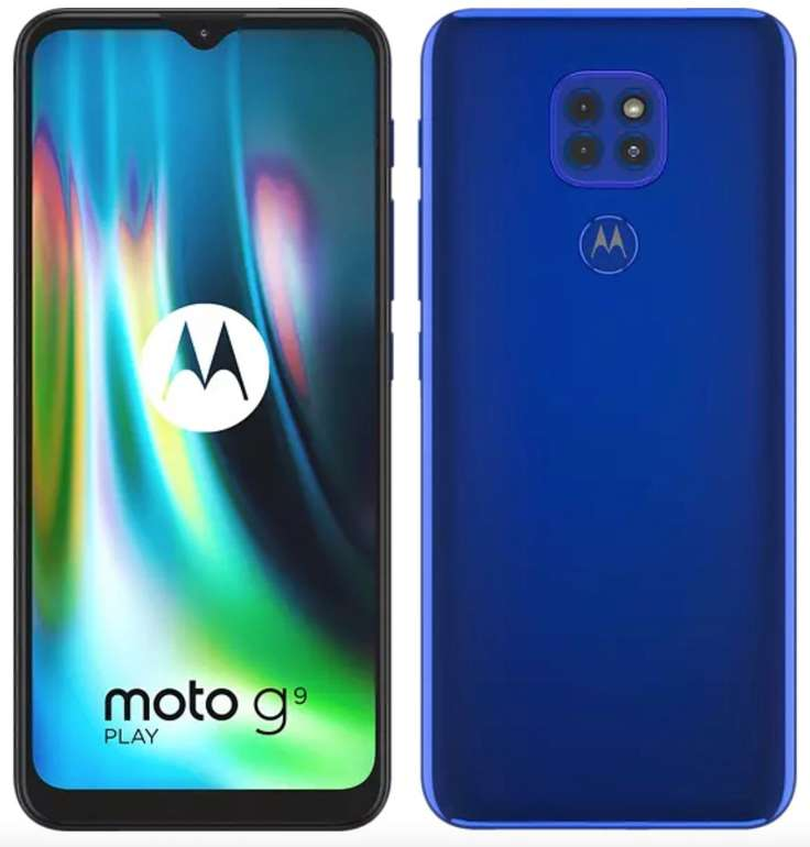 "Moto G9 Play Dual-SIM Smartphone (6,5""-Max Vision-HD+-Display, 48-MP Kamera, 64 GB/4 GB, Android 10) für 129€ inkl. Versand (statt 156€)"