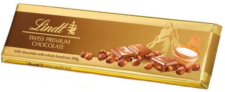 Lindt Gold Bar Milk Hazelnut oder Raisin Hazelnut (300g) für je 8,90€ inkl. Versand (statt 11,98€)