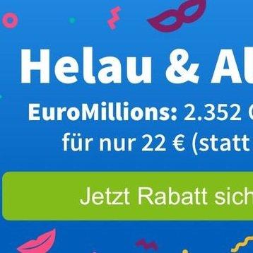 49 Mio. € EuroMillions Jackpot - 2.352 Chancen zu 22€ (statt 44€)