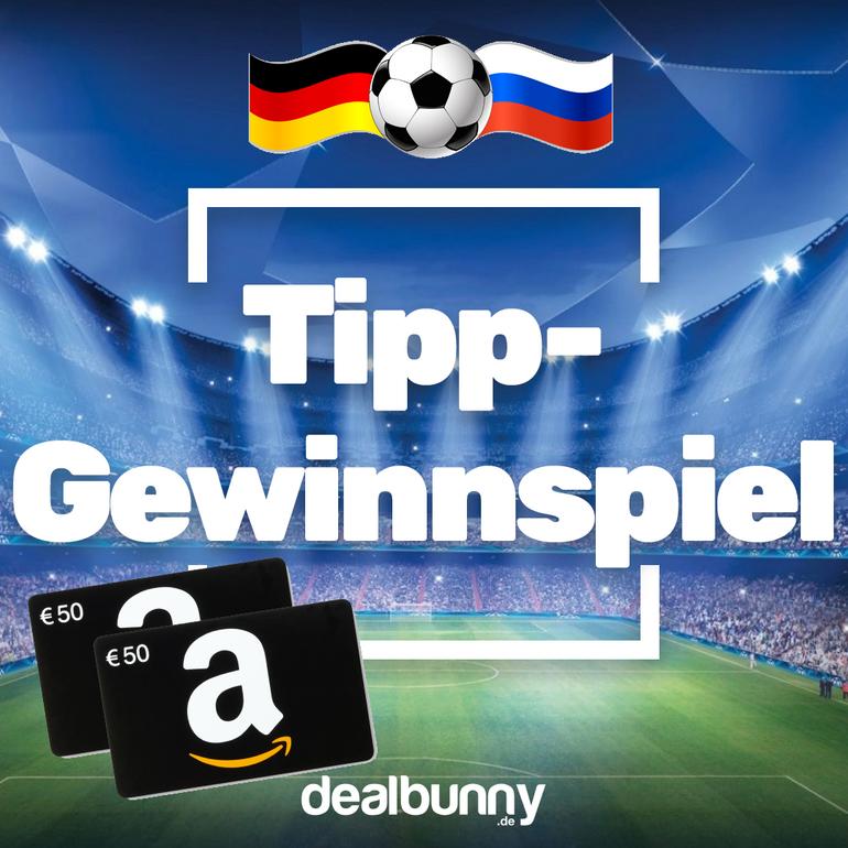 Die Gewinner: Tipp-Gewinnspiel: DEU vs. RUS tippen & 2x50€ Gutschein gewinnen
