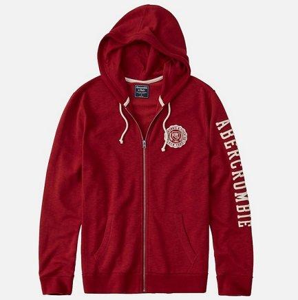 """Abercrombie & Fitch Sweatshirt """"CORE LOGO FULLZIP"""" für 37,45€ inkl. VSK"""