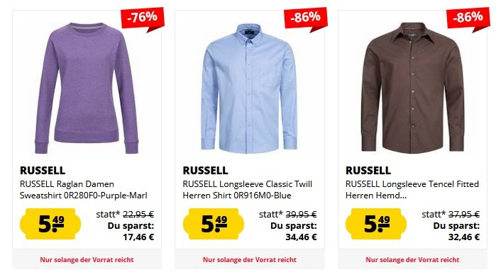SportSpar Russel Fasion Sale