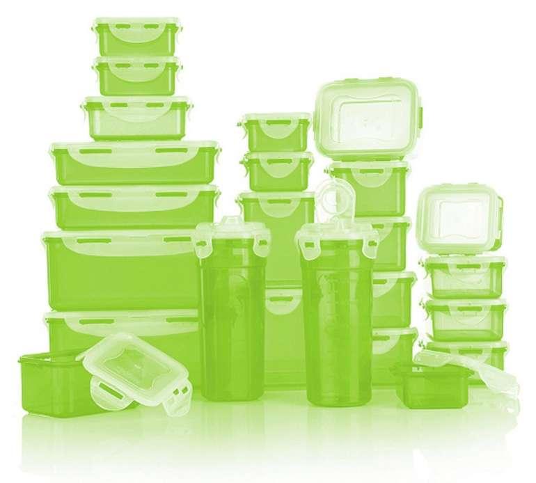 24er Set Lock&Lock Frischhaltedosen (stapelbar, 180ml bis 2,3l) für 24,98€ - Neukunden!