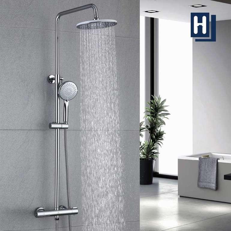 Homelody Duschsystem mit Thermostat, Regendusche & Handbrause für 89,99€ inkl. Versand (statt 140€)