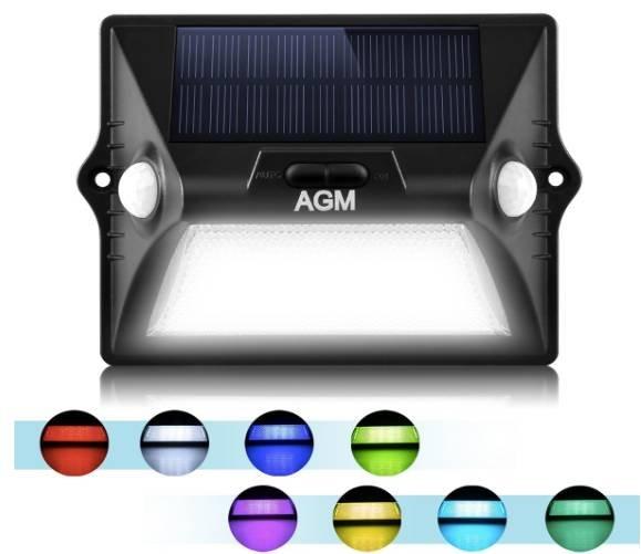 4 x Solar Leuchte Edelstahl Solarlampe mit RGB LED Beleuchtung CHRYSTAL neu