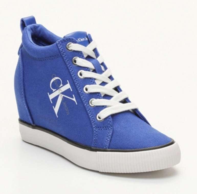 """Calvin Klein Schuh Sale mit bis -65% Rabatt - z.B. Sneaker mit hohem Schaft """"Ritzy Canvas"""" für 39,99€"""