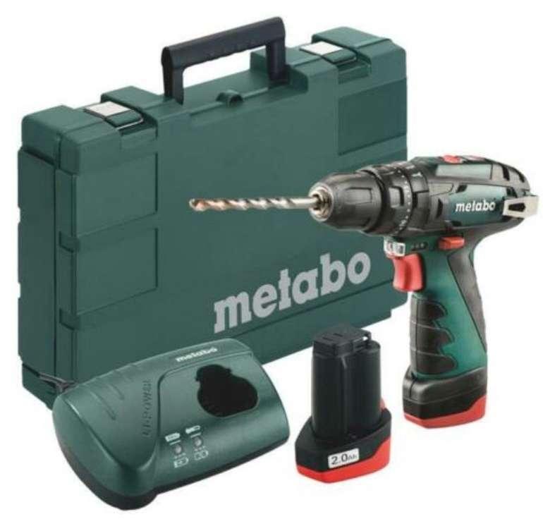 Metabo PowerMaxx SB Basic 10,8V Akku-Bohrschrauber Set mit 2 Akkus für 79,95€ (statt 88€)