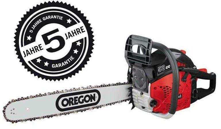 Scheppach CSP5300 Benzin Kettensäge mit 3 PS & 51cm Oregon-Schwert für 85,45€ (statt 103€)