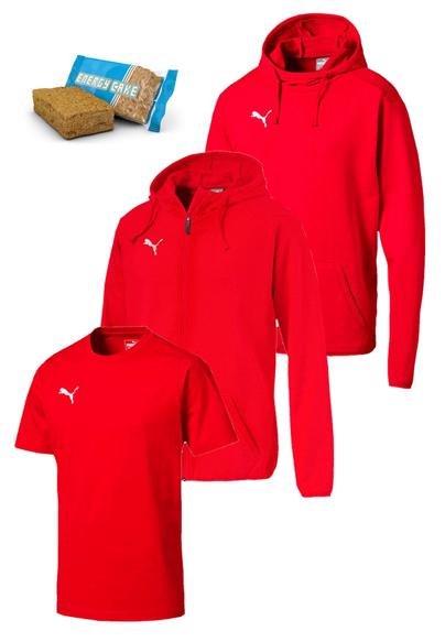 Puma Freizeitset 3-teilig in 5 versch. Farben (Jacke+Pullover+Shirt) je 54,95€