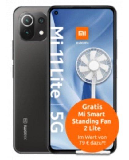 Xiaomi Mi 11 Lite 5G (4,99€) + Xiaomi Fan 2 Lite + Vodafone Young M (25GB 5G, VoLTE, WLAN Call) für 17,79€ mtl.