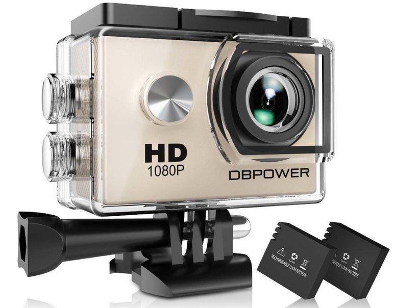 Sport Actioncam von dbpower (wasserdicht 30m) für 19,49€ inkl. Versand