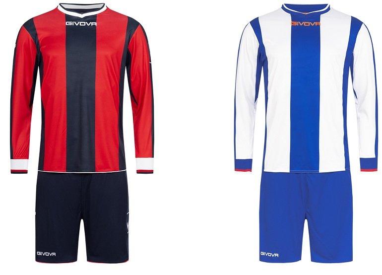 Givova Kit Line Fußball Set Langarm Trikot + Shorts