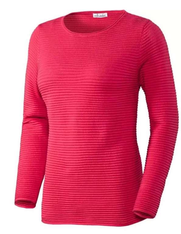 Emilia Parker Damen Relief-Pullover aus Baumwolle (versch. Farben) für je 31,59€ (statt 40€) + gratis Geschenk!