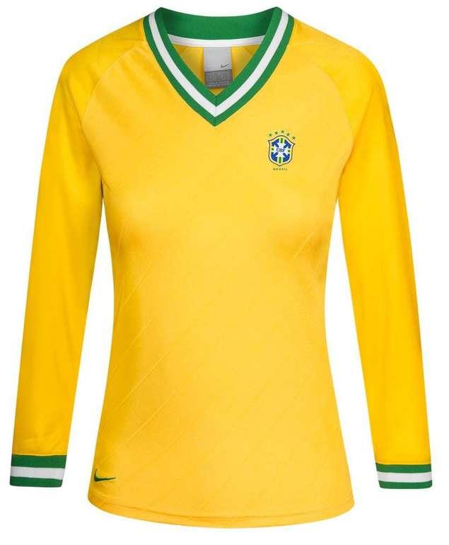 Brasilien Nike Damen V-Neck Retro Trikot für 8,39€ inkl. Versand (statt 14€)