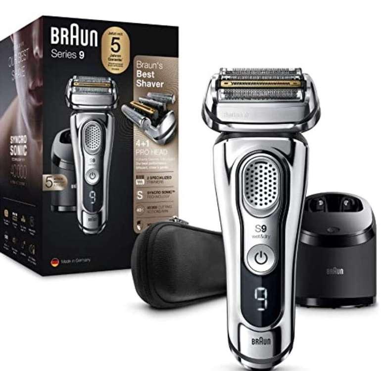 Amazon Prime Day: Braun Series 9 9395cc Premium Rasierer (4+1 Scherkopf, Reinigungs- & Ladestation) für 229,99€