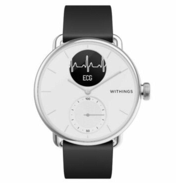 Withings ScanWatch - 38mm Hybrid Smartwatch mit EKG, Herzfrequenzsensor und Oximeter für 199,90€