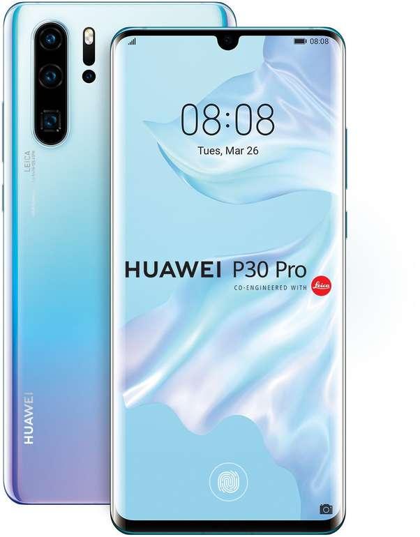 """Huawei P30 Pro - 6,5"""" Zoll Smartphone mit 256 GB Speicher in Breathing Crystal für 609€"""