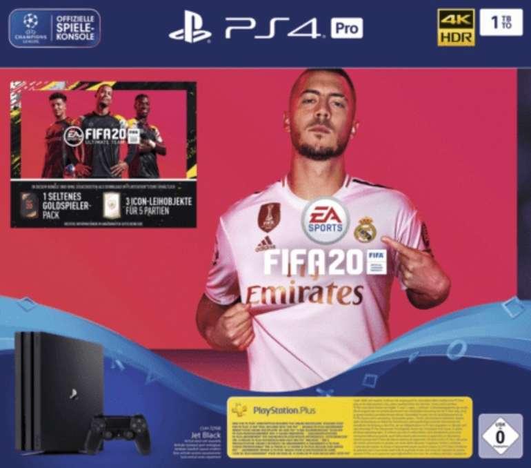 Sony Playstation 4 Pro 1TB + FIFA 20 Ultimate Team für 283,99€ inkl. Versand (statt 329€)