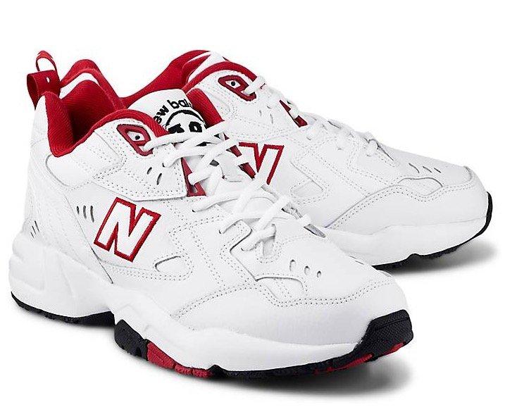 New Balance Sneaker 608 in Weiß/Rot für 55,96€ inkl. Versand
