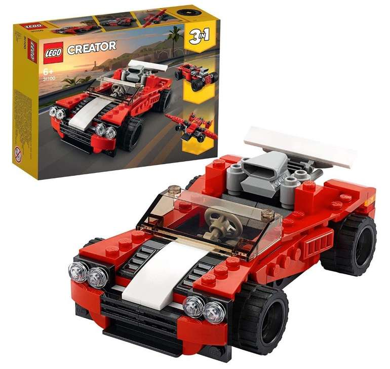 """Lego Creator 3 in 1 Sportwagen """"31100"""" für 6,99€ inkl. Prime Versand (statt 10€)"""