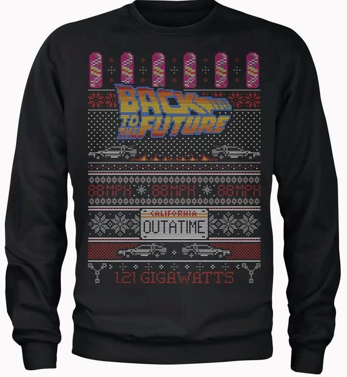 Back To The Future Outatime Männer Weihnachts-Sweatshirt für 18,99€inkl. Versand (statt 30€)