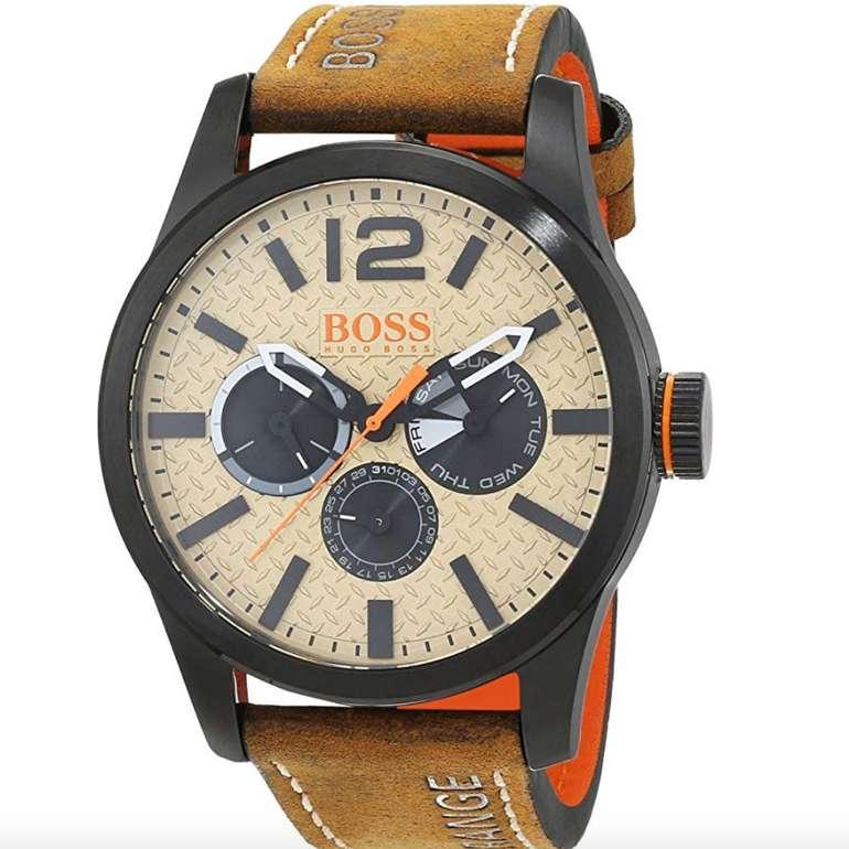 Hugo Boss Paris (1513237) Herren Armbanduhr bzw. Chronograph mit Leder Armband für 58,97€