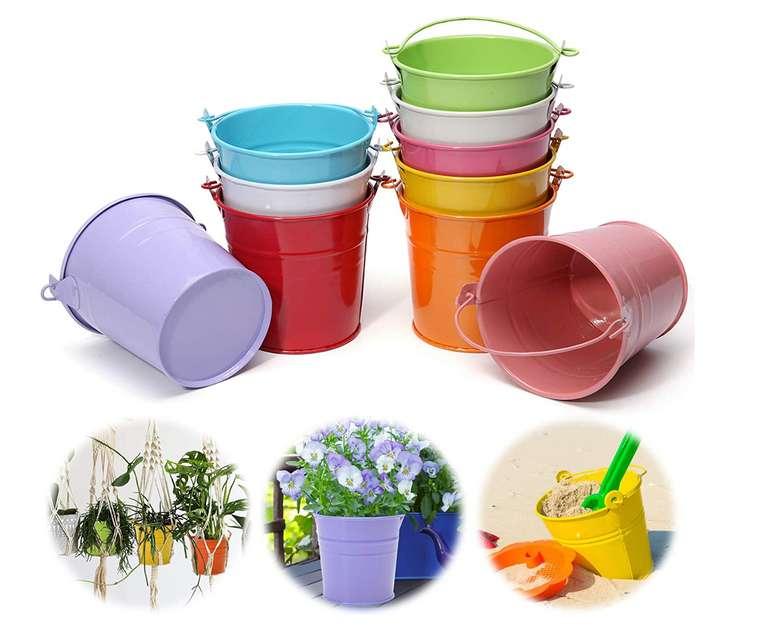 10 Metall-Blumentöpfe in verschiedenen Farben für 4,99€ inkl. Versand (statt 10€)