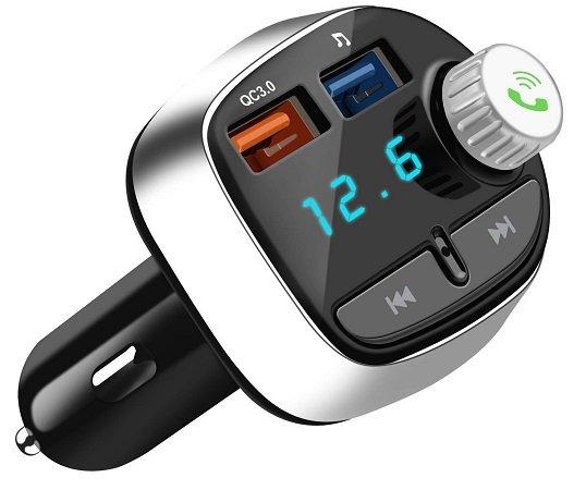 Nutmix FM Transmitter mit Bluetooth & 2 USB Anschlüssen für 12,99€ (statt 16€)