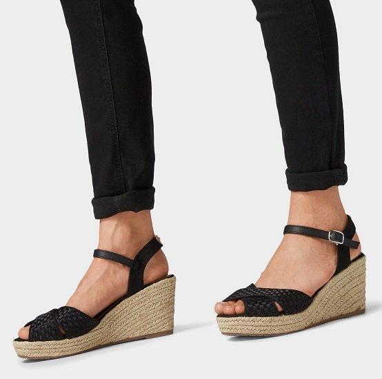 Tom Tailor Sandaletten mit Keilabsatz für 24,98€ (statt 40€)