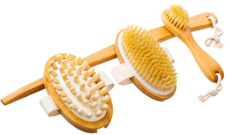 Tooca Badebürsten Set (Körperbürste, Massagebürste, Hautbürste) für 8,59€ inkl. Prime Versand (statt 11€)