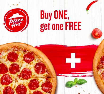 Pizza Hut: 2 für 1 Pizza Gutschein für 0,78€