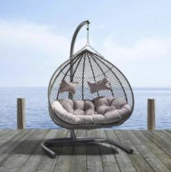 25% Rabatt auf Gartenmöbel online bei Mömax, z.B. XXL-Hängesessel für 264,20€