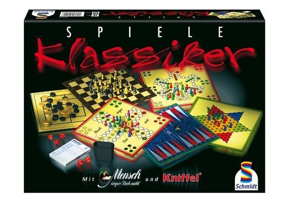 Spiele Klassiker: Kniffel, Schach, Mensch-ärgere-D... etc. für 9,56€ inkl. Versand (statt 14€) - Thalia Club!