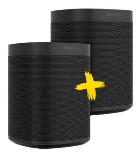 Doppelpack Sonos One für 353,99€ inkl. Versand (statt 400€)