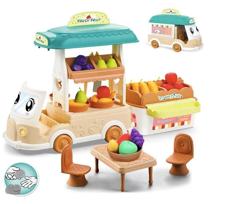 3 BeebeeRun Spielzeuge günstiger - z.B. Obstauto für 23,49€ inkl. Prime Versand (statt 46,99€)