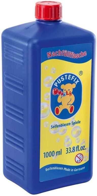 1 Liter Pustefix Nachfüllflasche Seifenblasen Flüssigkeit in der Flasche für 3,77€ inkl. Prime Versand (statt 8€)