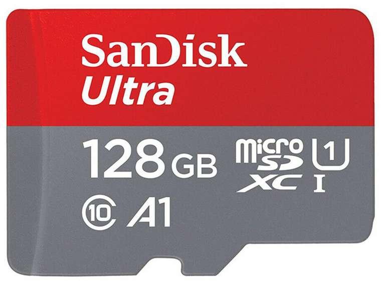 SanDisk microSDXC Ultra mit 128 GB (100 MB/s) für 14,99€ inkl. Versand (statt 17€)