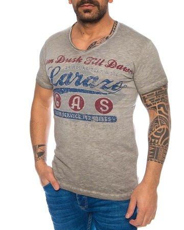 Larazé Herren Print Logo V-Neck T-Shirts in vielen Größen für je nur 9,95€