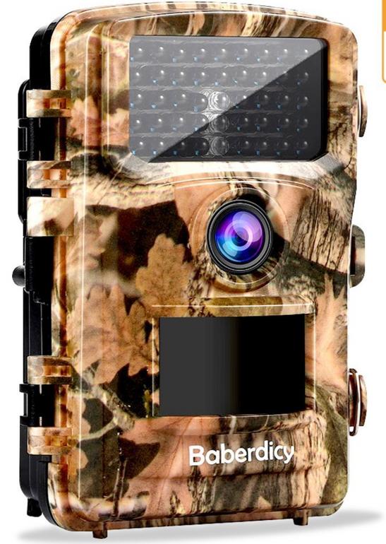 Baberdicy Wildkamera Fotofalle 12MP, Full HD für 35,32€ inkl. Versand