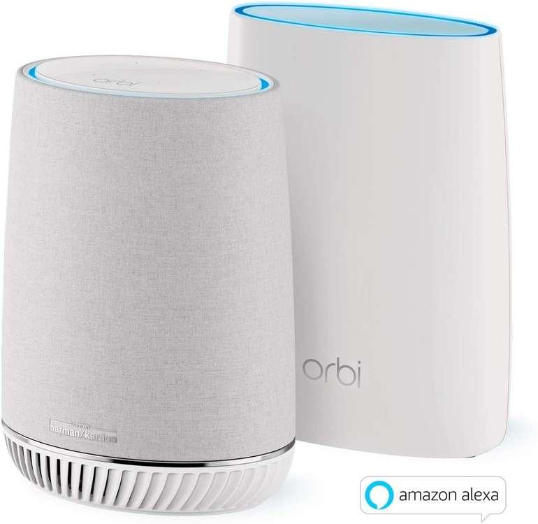 Netgear Orbi RBK50V Voice Mesh-WLAN-System (3.000 MBit/s, Tri-Band, Alexa) für 254,90€ inkl. Versand