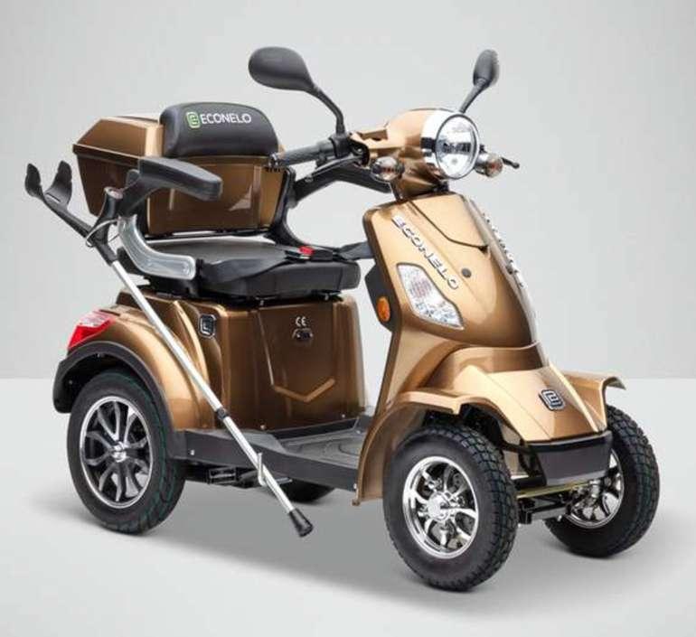 Econelo J 4000 Vierrad-Elektroroller (bis zu 25km/h (drosselbar), 65km Reichweite) für 1.799€ (statt 1.999€)