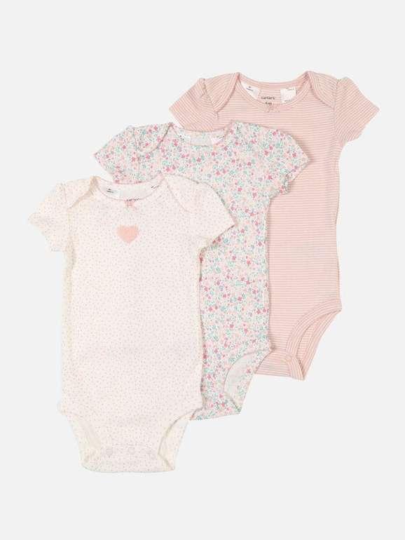 3er Pack Carter's Baby Kurzarm Bodys für 13,52€ inkl. VSK (statt 18€)